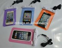 Cheap custom mobile phone cases Waterproof bag for iphone5 waterproof mobile phone bag with two buttons