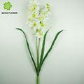flor artificial decorativa flor artificial de orquídea em vaso de vidro