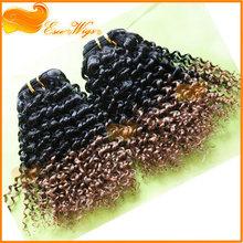 ESEE HAIIR wholesale brazilian human hair extension ombre hair kinky culry hair extension for black women