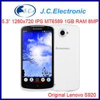 instock Original Lenovo S920 phone 5.3 inch Quad-core CPU 4G ROM 1G RAM 13M Camera russia aviliable ANDROID4.2