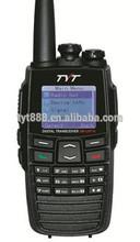 GPS Digital136-174+400-470MHz DM-UVF10 tyt dpmr walkie talkie with texting Digital/Analog switch scrambler