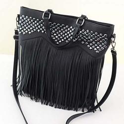 BV9024 Manufacturers wholesale 2014 autumn new high-end full-PU fringed handbag rhinestones fashion classic woman shoulder bag