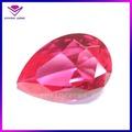 20*30mm forma de pera diamante de corte de piedras preciosas sintéticas ruby on la venta