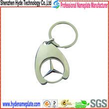 custom high quality metal cheap car logo shape zinc alloy keychain