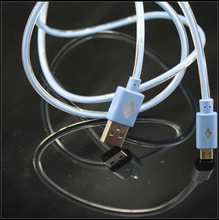 tube glow data usb cables for micro phone for v8 led cables