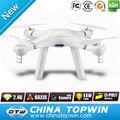 Blanc 2.4g 4ch système gyroscopique une clé modèles flips drone télécommande