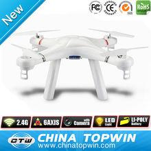 Blanc 2.4 G 4CH Gyro une clé flips télécommande drone modèles
