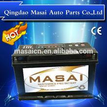 Super long life Maintenance free automotive battery ,JIS/DIN 100Ah standard top Korean car battery,12V/ 100AH truck battery