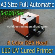 [WORLD BEST] 8 Color A3 Size LED UV Printer DX5 UV Printer Fast Print Speed