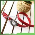 jp85 rosso stile di modo delle donne ragazze bracciale orologio da polso cinturino in pelle regalo di natale