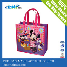 Wholesale Fashion Reusable Pictures Printing Non Woven Shopping Bag