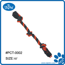 Pet chew toy / cotton rope with three knot