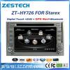 Factory direct sale Car audio for Hyundai Starex 2007-2012 car auto radio dvd cd player ZT-HY726