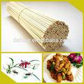 natural de alta calidad de la ronda palo de bambú para barbacoa herramienta de la fábrica