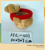 China supplier handmade small wicker gift baskets for Christmas
