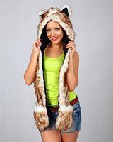 Design useful High quality faux fur animal trapper winter hood hat