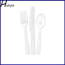 Bright Wihte Plastic Cutlery Set SC012