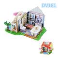 3d de madeira casa de bonecas
