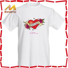High quality pima cotton t shirt wholesale/hot sale fashionable plain blank tshirt