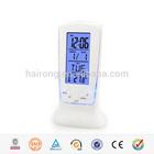 Modern alarm and calendar colored desktop LCD clocks wholesale