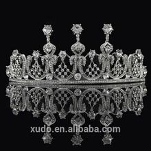 2014 trendy handmade crystal queen crown wedding crown wholesale