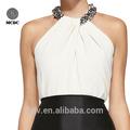 top qualidade mulheres elegantes modelos de cetim de seda blusas