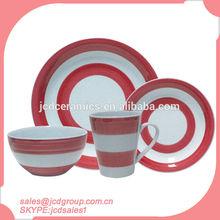 16pcs stoneware dinnerware set with handpainting
