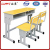 Adjustable desk and chair school furniture,desk with chair set