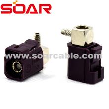 FAKRA SMB Code D Right Angle Jack female solder/crimp Bordeaux colour for GSM cellular phone connector