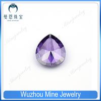 Millenium cut Pear shape cubic zircon gems