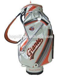 custom leather golf caddy bag