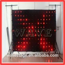 HOT WLK-1P18 Black fireproof Velvet cloth RGB 3 in 1 led curtain backdrop stage curtains used black velvet