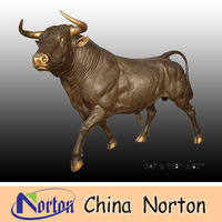 garden decoration brass bull statue for sale NTBH-B009