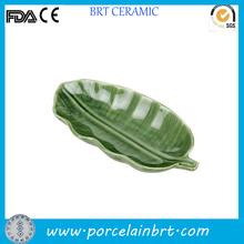 Porcelain green serving Banana Leaf Plates