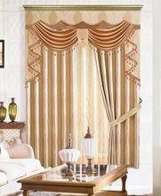 Popular polyester yarn dyed velvet stripe sheer curtain / cheap curtain fabric/living room curtains