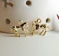 معدن الذهب الحصان سحر لسوار وقلادة الحيوان سحر الإكسسوارات والمجوهرات