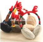 christmas deer ear muffs/kids earmuffs for christmas