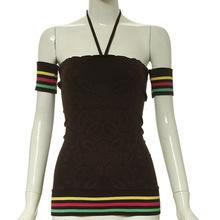 Seamless knitting shoulderless tube top women blouse for hot summer
