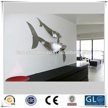 Interior decoration sculpture stainless steel modern fish sculpture for sale