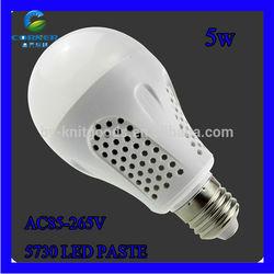 2014 high power IP40 5w 450LM cheap plastic led bulb weixingtech