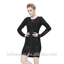 HL style evening celebrity bandage dress black beaded sequin wholesale dresses fit and flare dress H197