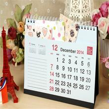 2015cute mini paper calendars