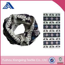 Custom multifunctional seamless tube wool headwear