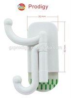 Plastic wall mount Double Prong Robe Hook