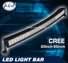 Top selling 50 inch 288w curved led light bar cree