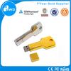 hot sales 1gb metal key shape usb flash stick memory with key chain