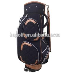 newest PU golf cart bag, golf bag with wheels, wheel golf cart bag light weighted sports bag