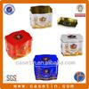 special shape decorative embossed metal tin , tea storage metal tins , printed tea tins