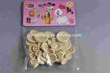 wood button new design buds chiffon puffs