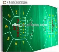 Poker Table Fabric ( casino equipment with flocking nylon and rubber materia)mitsubishi coaster